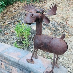 Vintage Accents - One of a kind Moose Sculpture Outdoor Decor